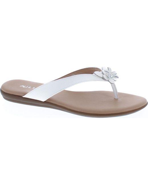 Aerosoles | White Branchlet Thong Sandal | Lyst ...