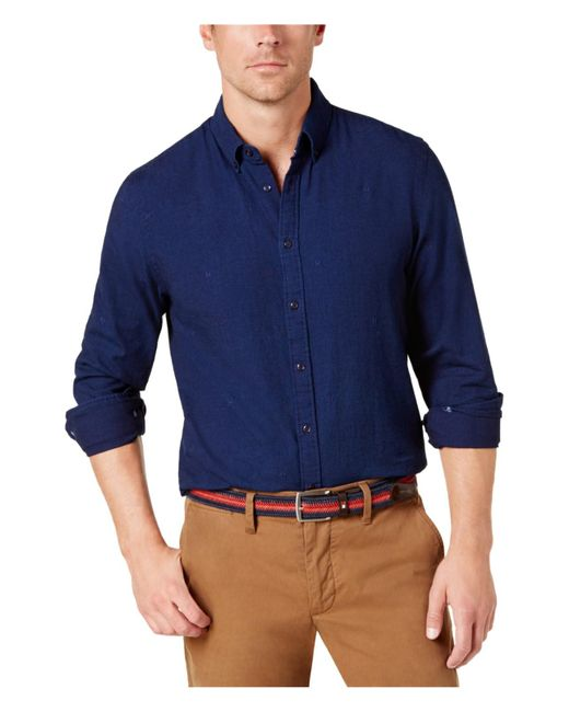 Tommy Hilfiger - New York Button Up Shirt Blue S for Men - Lyst