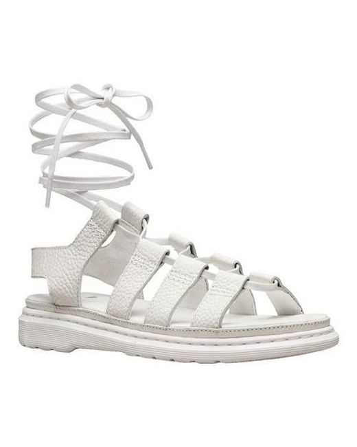 1cbe079cf149 Lyst - Dr. Martens Kristina Ghillie Sandals in White - Save 33%