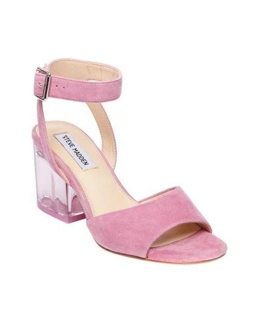6b2171ab6f1 Lyst - Steve Madden Debbie Ankle Strap Sandal in Pink - Save 42%