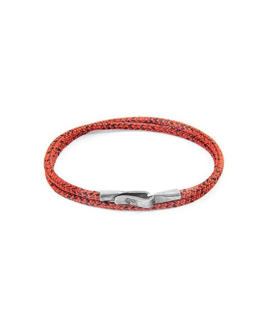 Anchor & Crew - Multicolor Red Noir Liverpool Silver And Rope Bracelet - Lyst