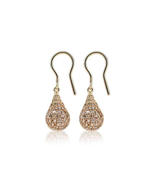 Loushelou - Multicolor Rose Gold Diamond Drop Earrings - Lyst