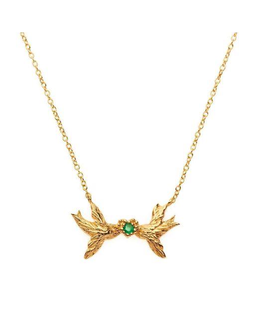 Matina Amanita | Metallic Swallow Kiss Necklace | Lyst