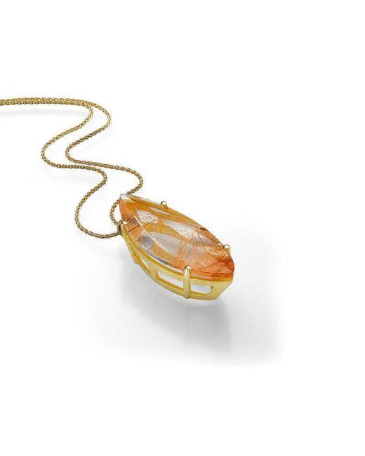 Nitsa Rona - Multicolor Golden Orange Canoe Necklace - Lyst
