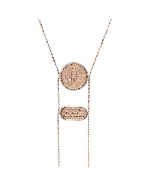 Conges - Multicolor Scarab Necklace With Champagne Diamonds - Lyst