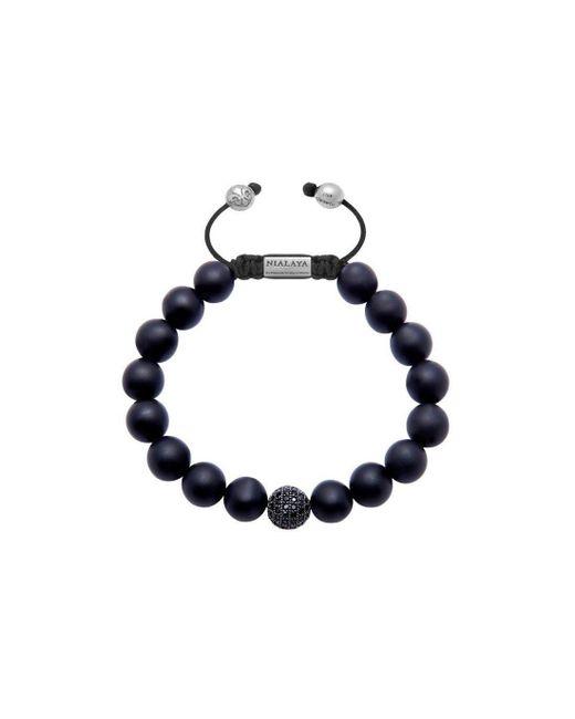Nialaya Black Stingray Bracelet with Gold Lock - Extra Large A5pEx2DLtX