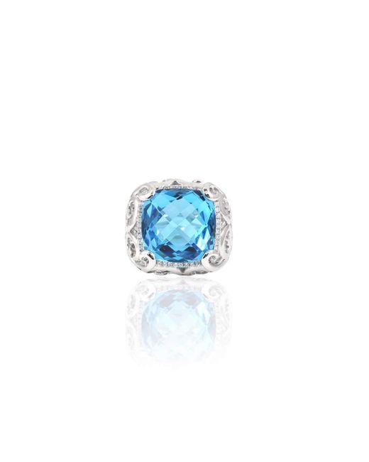 Estenza | Stella Blue Topaz Cocktail Ring | Lyst
