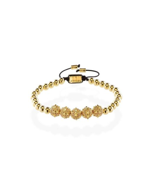 MARCOS DE ANDRADE - Metallic Morning Star Spike Bracelet With 18kt Gold - Lyst