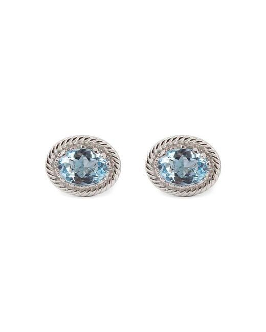 Vintouch Italy - Luccichio Blue Topaz Stud Earrings - Lyst