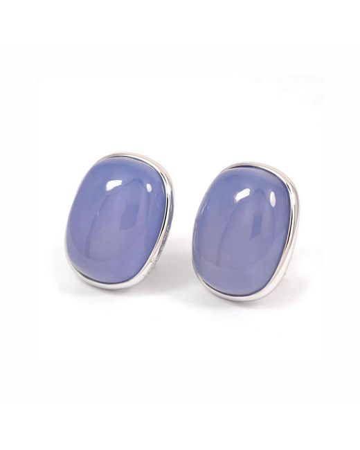 baerjewels - Multicolor Calcedony Oval Cabochon Earrings - Lyst