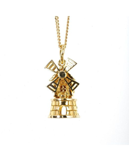 Lily Blanche - Metallic Gold Magical Charm Necklace - Peace - Lyst