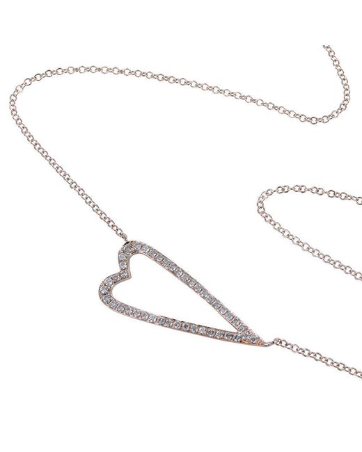 Reeves and Reeves - Multicolor Open Heart Necklace With Diamond Detail - Lyst