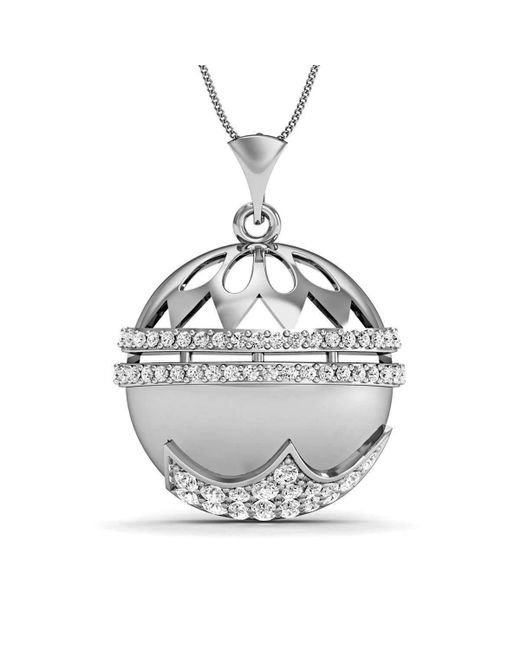 Diamoire Jewels - Metallic Diamonds And 18kt White Gold Nature Inspired Pendant - Lyst