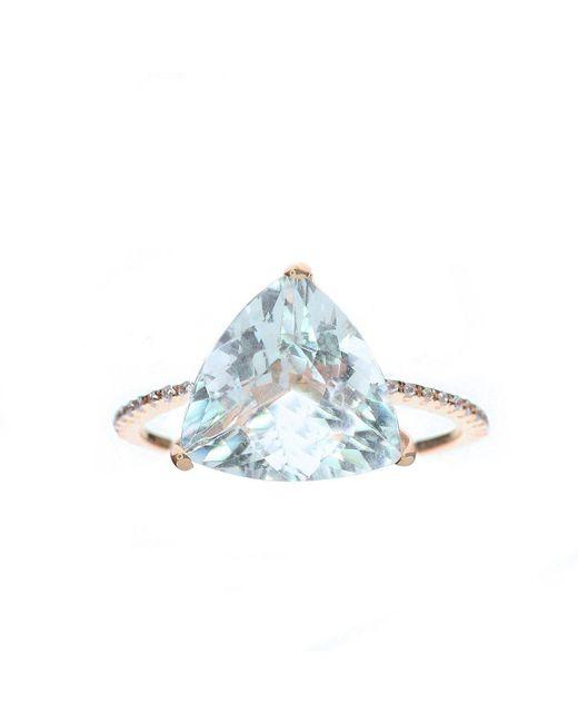 Oh my Christine Jewelry - Blue Trillion Cut Aquamarine Ring - Lyst