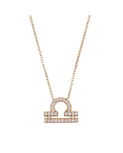 Latelita London - Metallic Libra Zodiac Necklace - Lyst