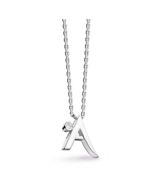 Kit Heath | Metallic Signature Diamond Initial Necklace | Lyst
