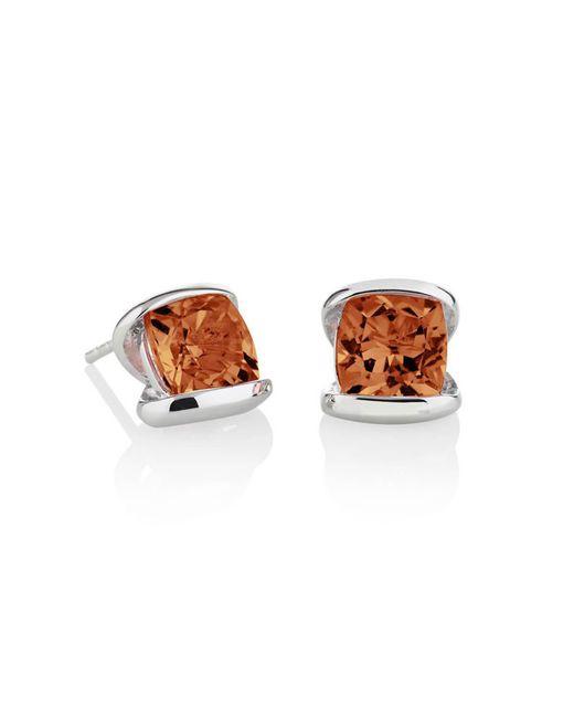 MANJA Jewellery - Multicolor Infinity Cognac Quartz Earrings - Lyst