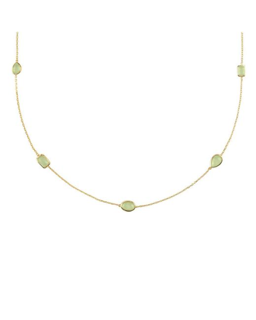 Latelita London Venice Long Chain Necklace Silver Rose Quartz kHbMDsB