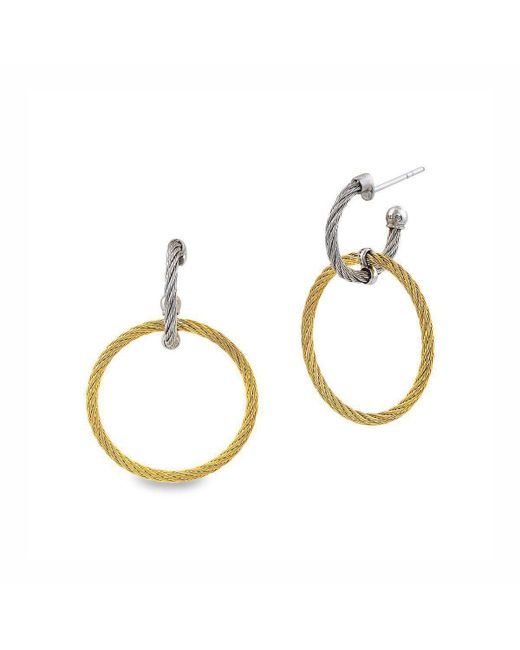 Alor - Metallic Classique Earrings Yellow And Grey Circle Drop - Lyst