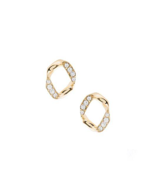 Joanna Laura Constantine - Metallic Link Pave Stud Earrings - Lyst