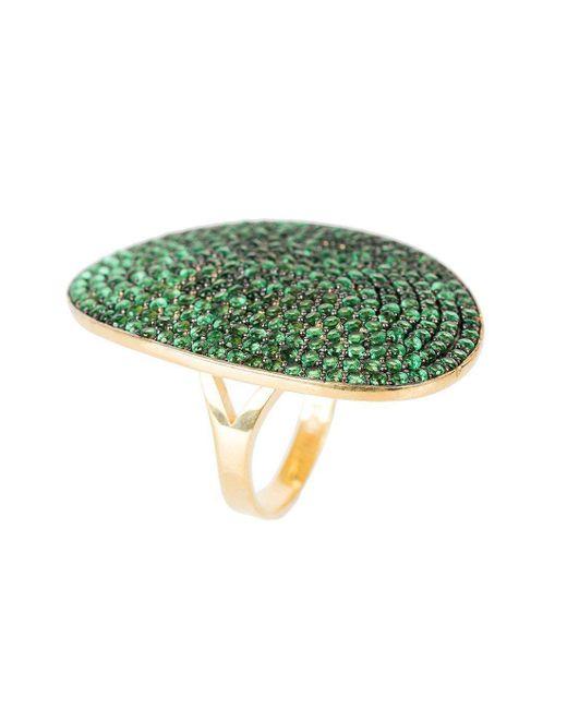 Latelita London - Multicolor St Tropez Ring Gold Green Zircon - Lyst