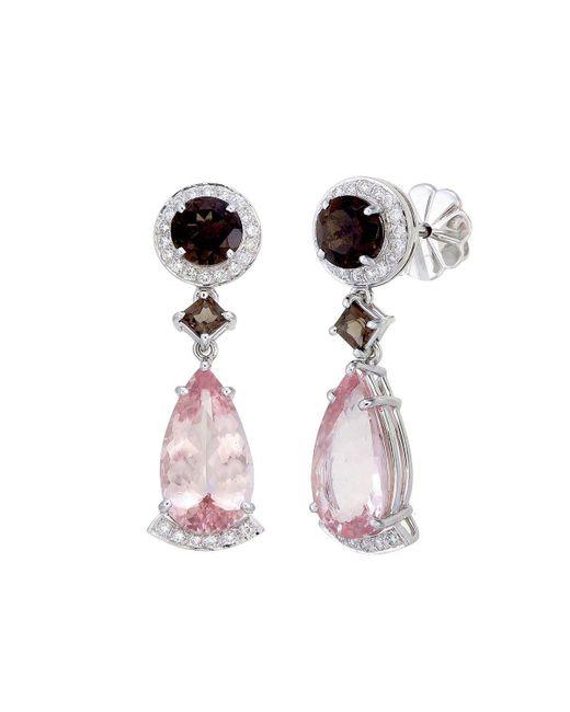 Aara Designer Jewelry | Peach Pink Morganite Drop Earrings | Lyst
