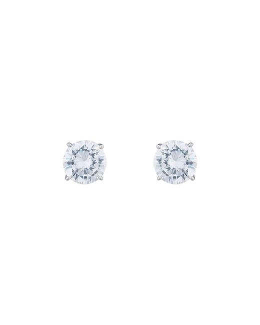Fantasia 14kt White Gold 5ct Princess Stud Earrings o1ABsaTe