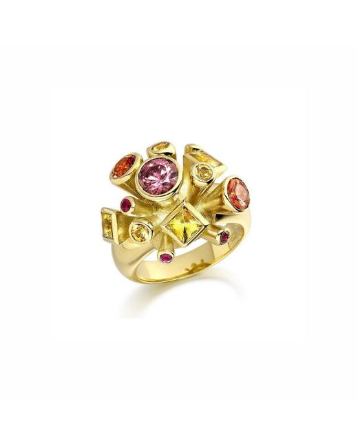 Justin Richardson - Metallic Fire Explosion Ring - Lyst