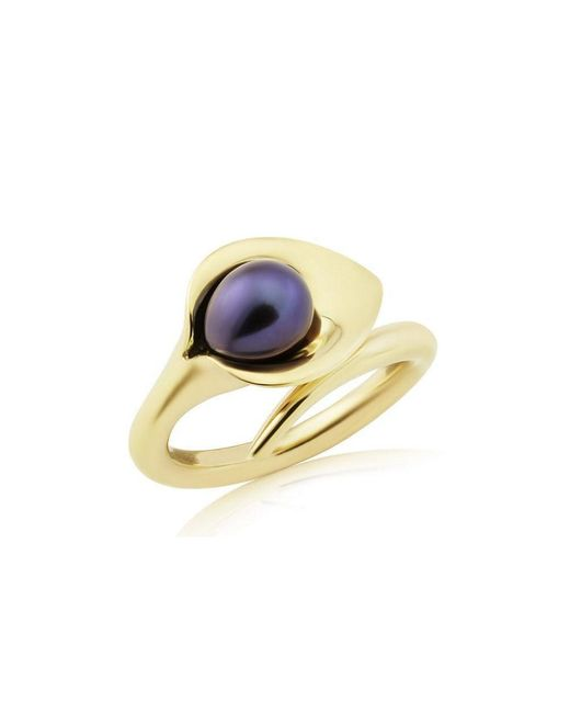 Amanda Cox Jewellery - White 9kt Gold Lily Pearl Ring - Lyst