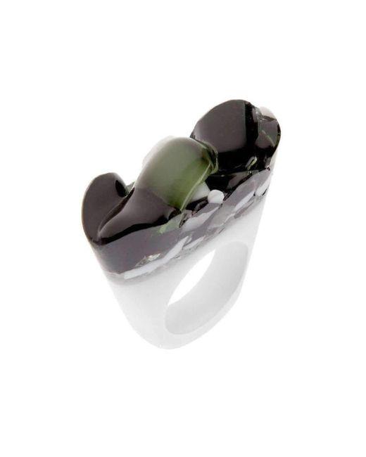 Pasionae | Metallic Murano Ring - B&w - Cholera | Lyst