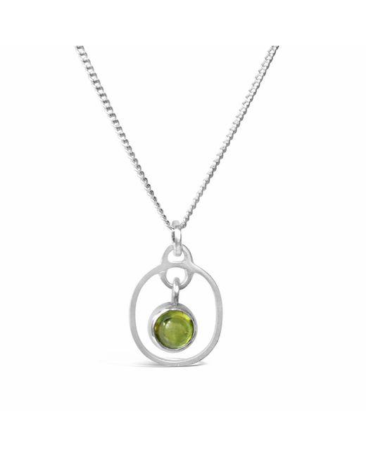 Vicky Davies - Metallic Sterling Silver Peridot August Birthstone Pendant Necklace - Lyst