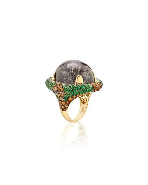 Niquesa Fine Jewellery - Multicolor Venice Bauta Black Rutile Quartz Ring - Lyst