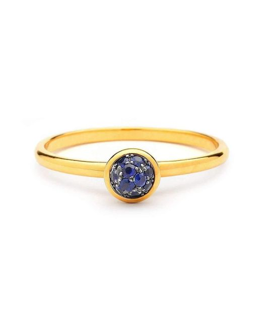 Syna - 18kt Blue Sapphire Ring - Lyst