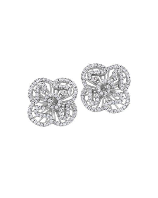 Fei Liu - Cascade Mini Earring Studs In White Rhodium - Lyst