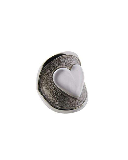 Luke Goldsmith | Metallic Silver Womens Identity Romantic Ring | Lyst