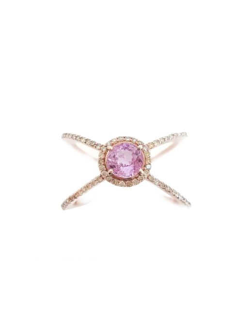 Ri Noor - Multicolor Pink Sapphire And Fancy Yellow Diamond Ring - Lyst