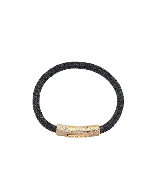 Nialaya | Multicolor Black Python Bracelet With Silver Accents for Men | Lyst