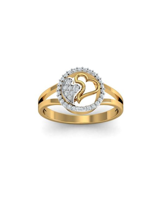 Diamoire Jewels - Metallic 18kt Yellow Gold Pave 0.18ct Diamond Infinity Ring Ii - Lyst