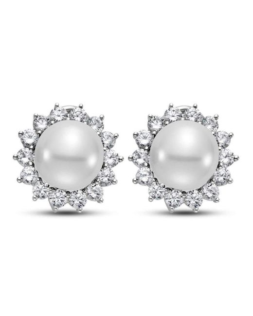 Isaac Westman - Metallic 14kt White Gold South Sea Pearl And Diamond Earrings - Lyst