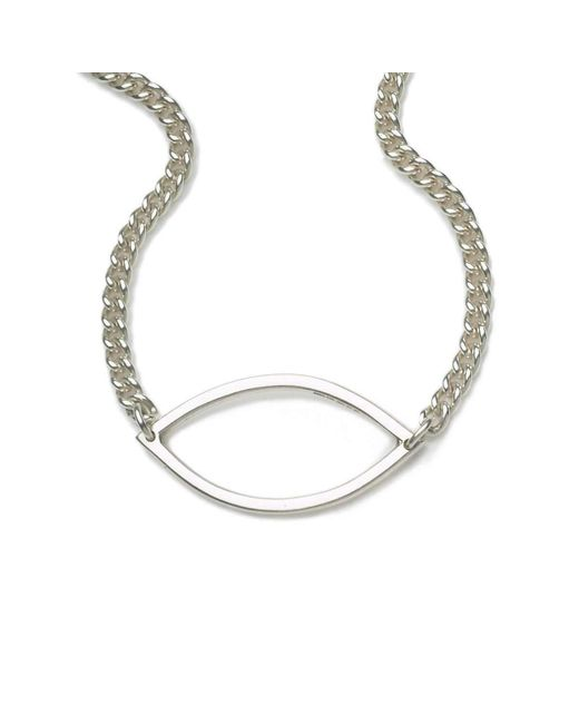 Naomi Tracz Jewellery - Metallic Single Marquise Necklace In Silver - Lyst