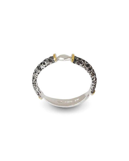Agneta Bugyte - Metallic Wild Jet Dark & Polished Silver Ring - Lyst