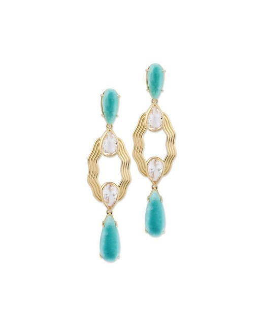 Chavin Couture - Multicolor 18kt Yellow Gold Earring With Amazonite - Lyst