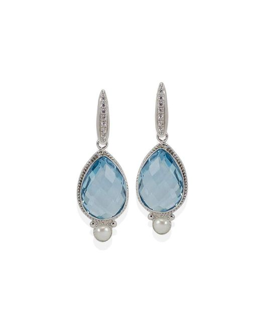 Vintouch Italy - Venus Blue Topaz Earrings - Lyst