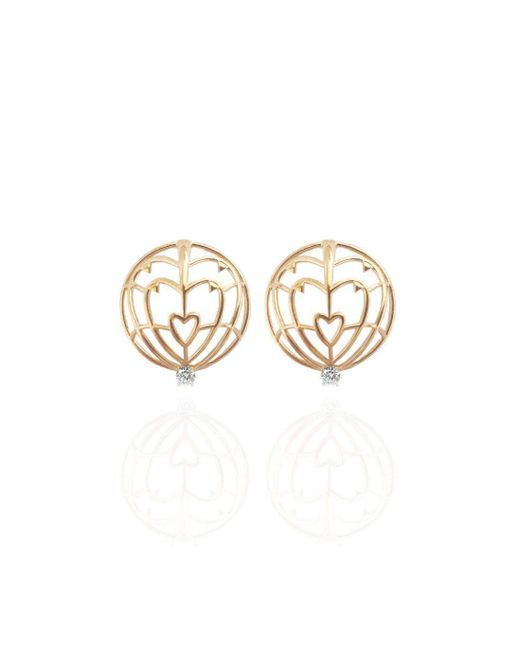 Jane North - Multicolor 18kt Yellow Gold Everlasting Love Spike Earrings - Lyst