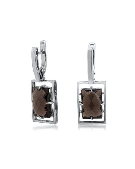 Drukker Designs - Metallic Sterling Silver Smoky Quartz Earrings - Lyst