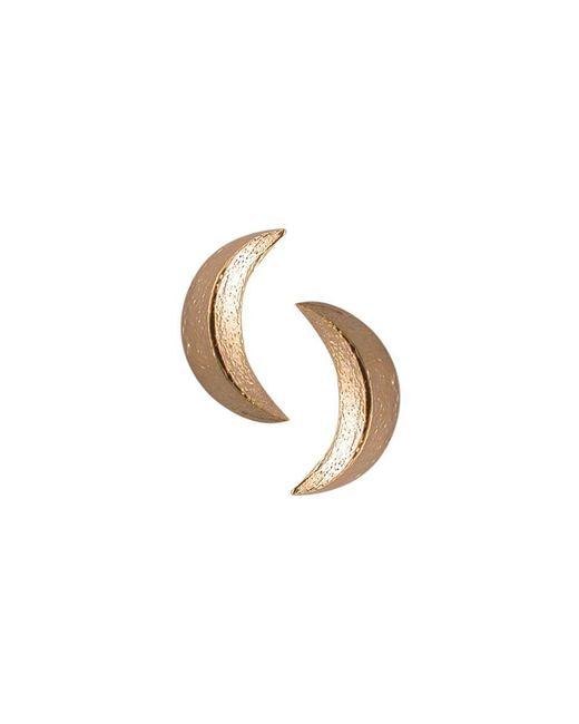 London Road Jewellery - Metallic Portobello Rose Gold Starry Night Moon Stud Earrings - Lyst