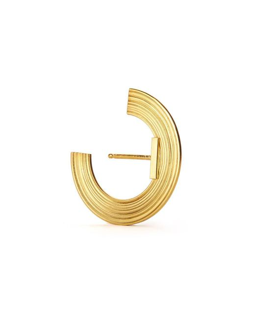 aka jewellery - Metallic Gold Plated Silver Orbit Small Radius Lobe Earrings - Lyst