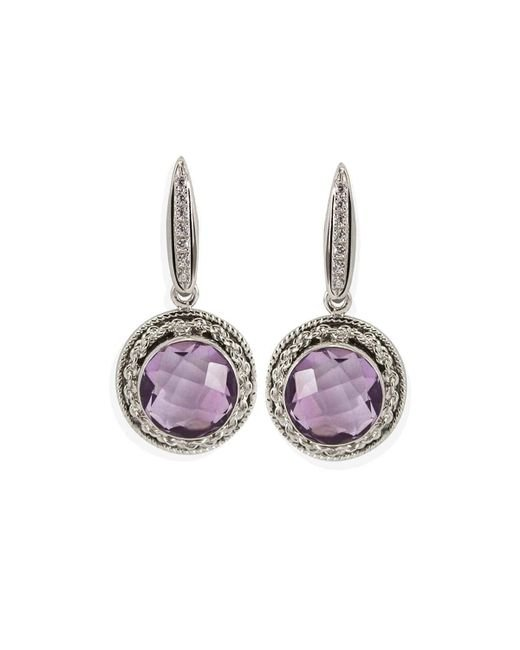 Vintouch Italy - Multicolor Provence Amethyst Tondo Earrings - Lyst