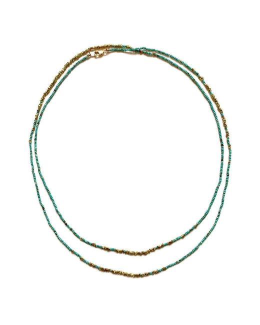 Sage Belber Jewelry | Metallic Sun Meets The Ocean Turquoise Brass Fade Necklace | Lyst