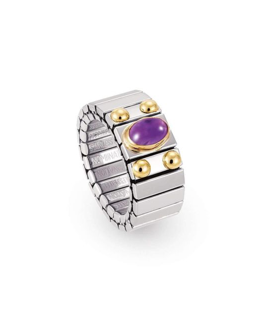 Nomination - Metallic Xte Ring With Amethyst - Lyst